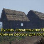 Medieval Dynasty 中世紀王朝指南工作室的建設和所需的資源
