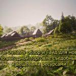 Medieval Dynasty обзор и Гайд для новичков по выгодной торговле съедобными и вещевыми ресурсами
